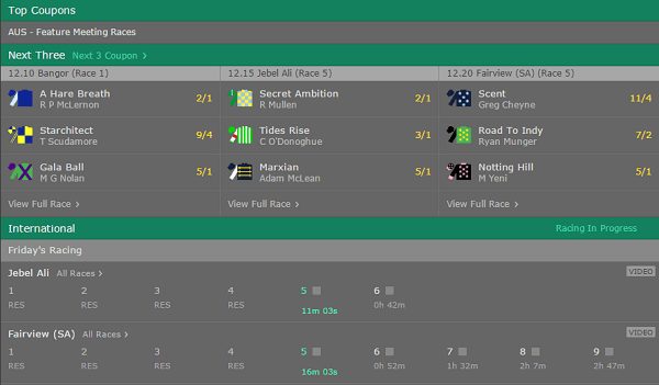 betting on horse racing tips