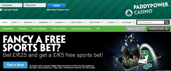 Casino Gambling Games PaddyPower