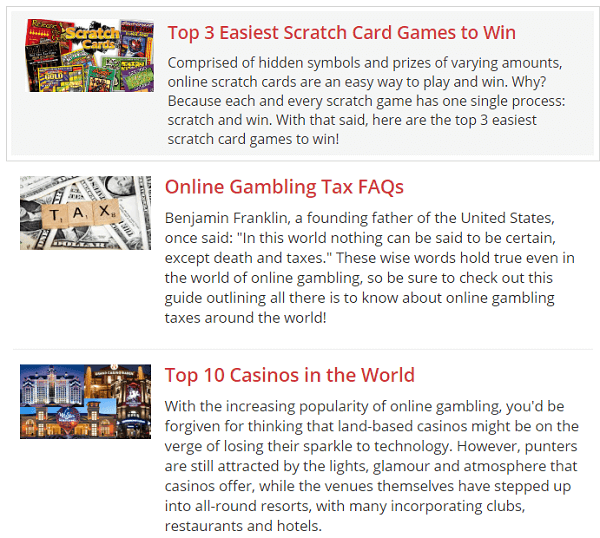 Gambling com strategies