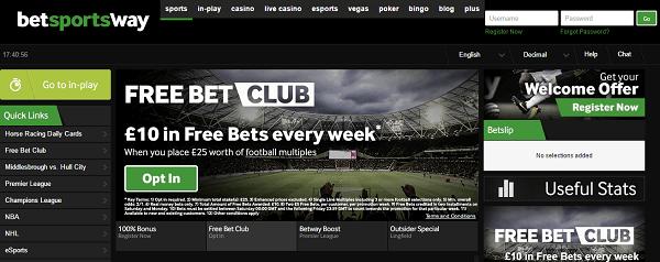 gambling sites betway