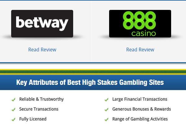 High Stakes Gambling Sites