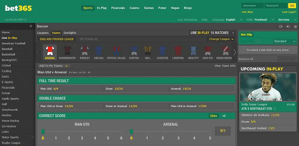 Online Football Gambling  bet365