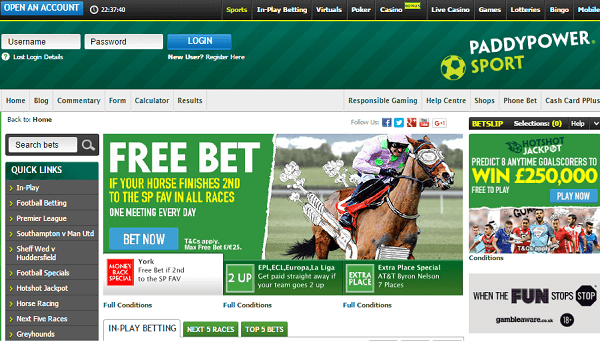 Sportsbooks Gambling PaddyPower