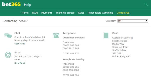 top gambling websites customer support