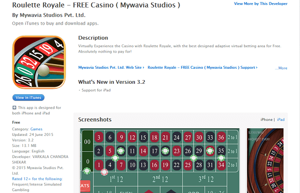 Roulette Royal Mobile Gambling App